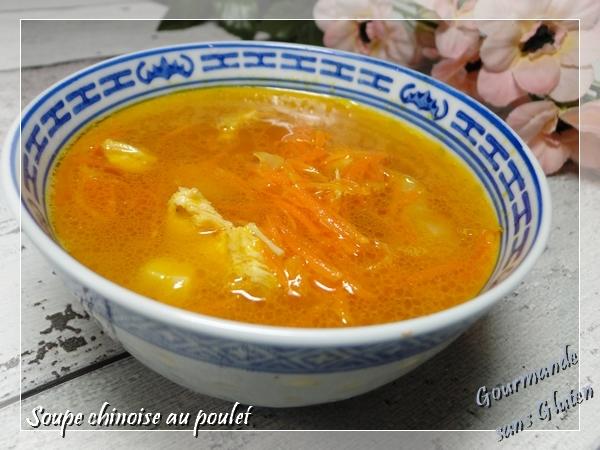Soupe chinoise avec restes de viande, poulet