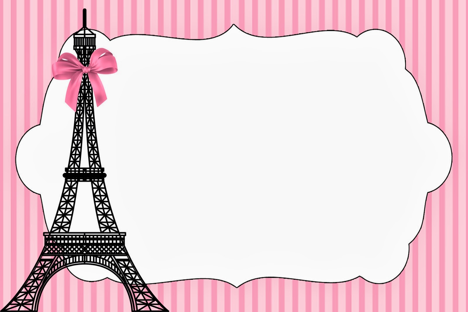Paris Invitations And Free Party Printables Oh My Fiesta In English