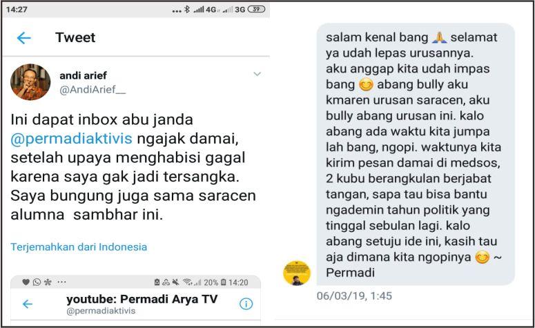 Andi Arief Ungkap Ajakan Damai dari Abu Janda, Ngajak Ngopi Bareng