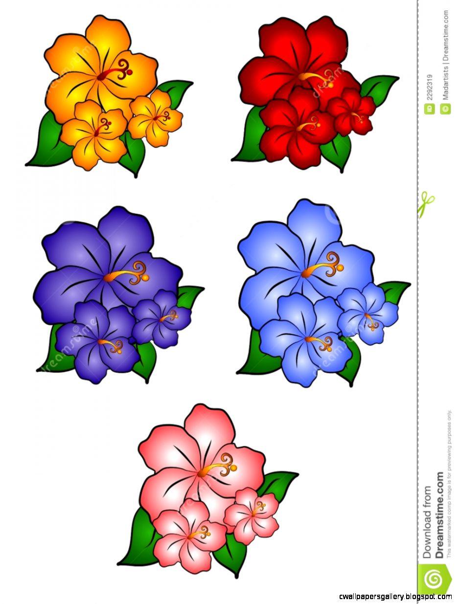 Hawaiian Flower Border Clip Art | Wallpapers Gallery