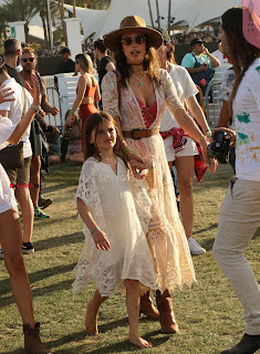 Alessandra Ambrosio Looks super sexy in Transparent clothes enjoying herslef at Coachella Party