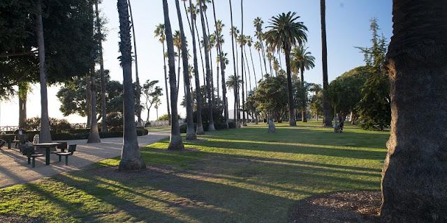 Palisades Park com criança em Santa Mônica