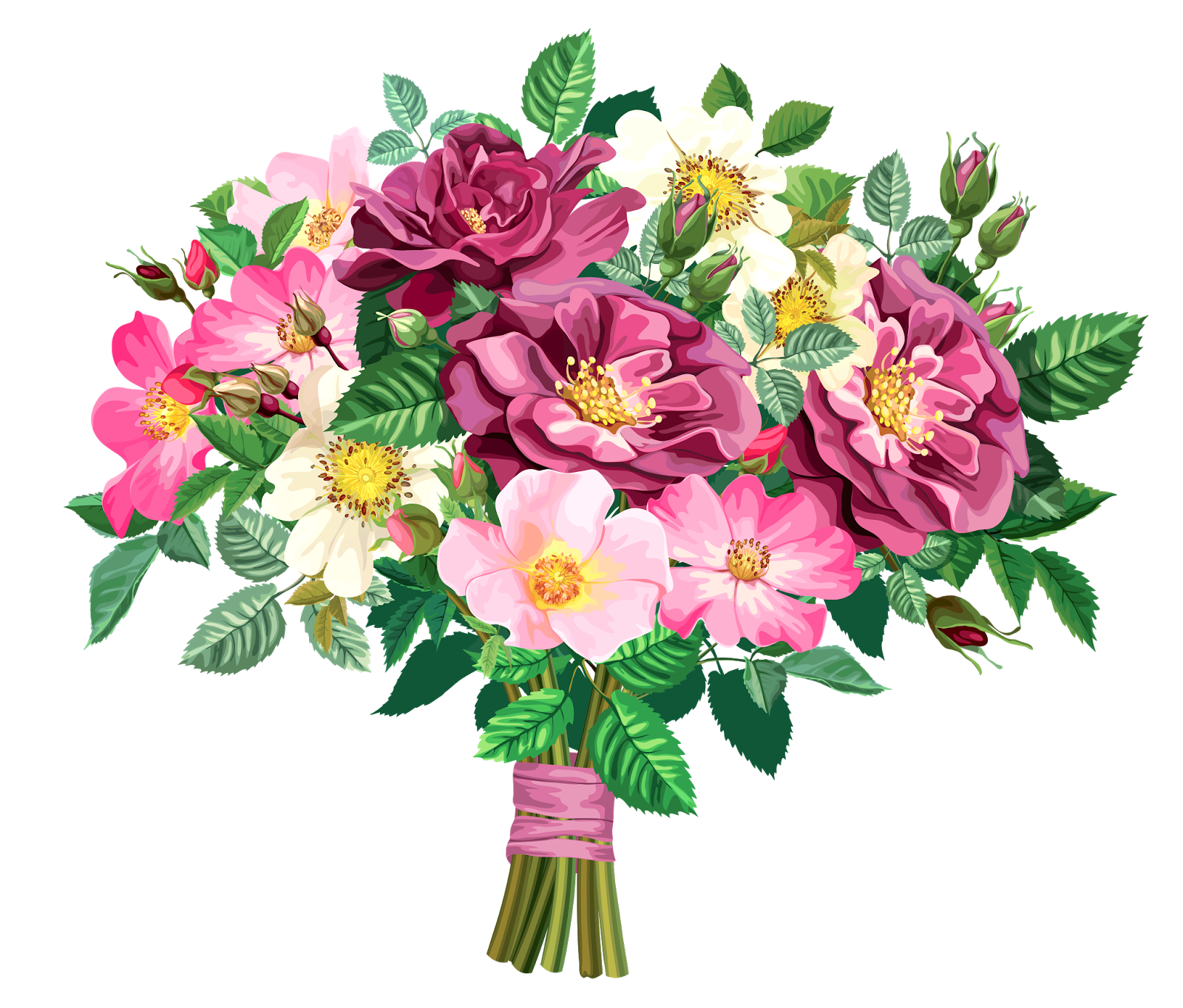 ROSE BOUQUET CLİPART TRANSPARENT | Joy Design Studio