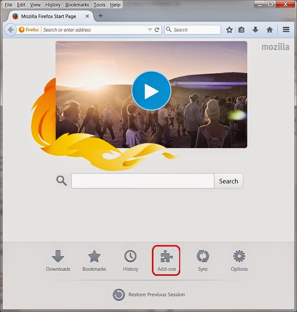 Access the Add-ons manager within Firefox