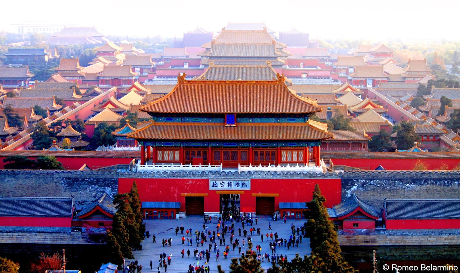 Overhead View of the Forbidden City Beijing China