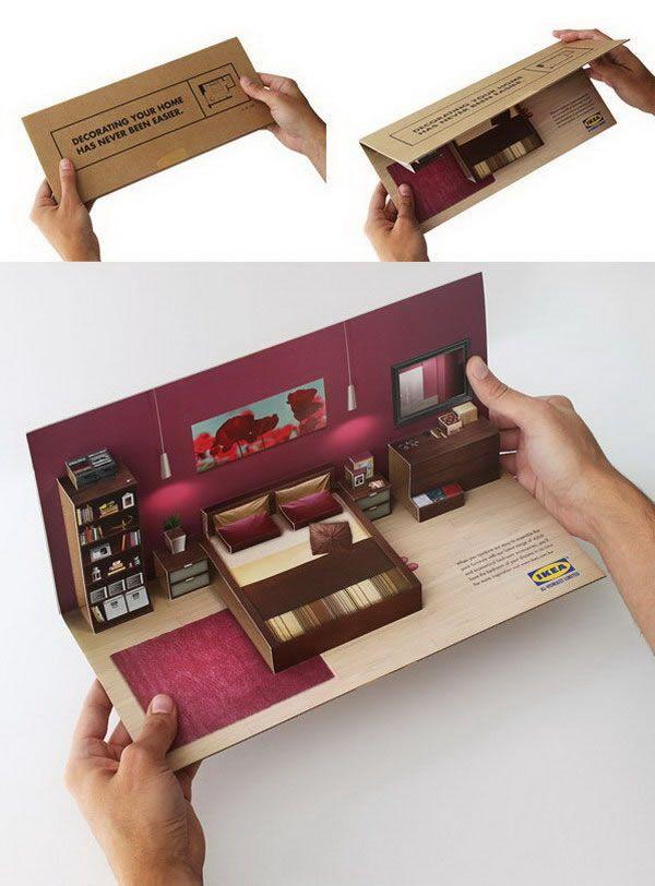 Konsep 3D dalam desain brosur IKEA