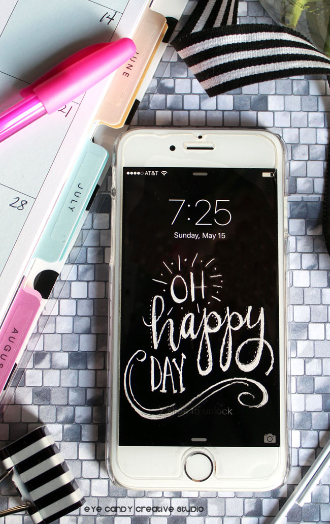 free cell phone wallpaper, freedownload cell hone background art, oh happy day
