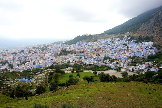Chefchaouen, Morocco view