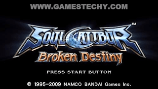 Soul Calibur Broken Destiny Highly Compressed PPSSPP ISO