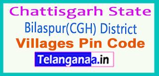 Bilaspur(CGH) District Pin Codes in Chattisgarh State