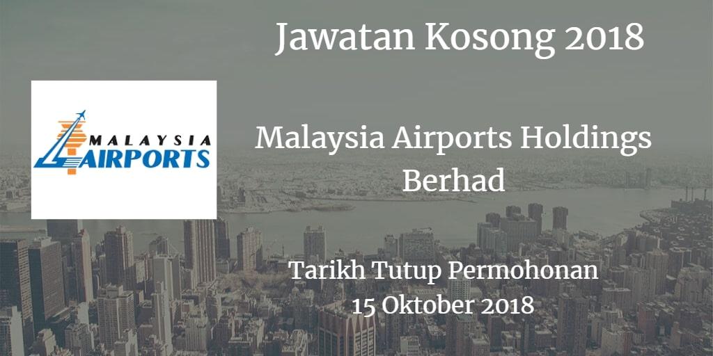 Jawatan Kosong MAHB 15 Oktober 2018