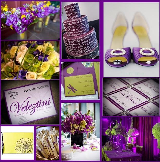 Purple Ideas For Weddings: Wedding By Designs: Purple And Sparkling Yellow Wedding Ideas