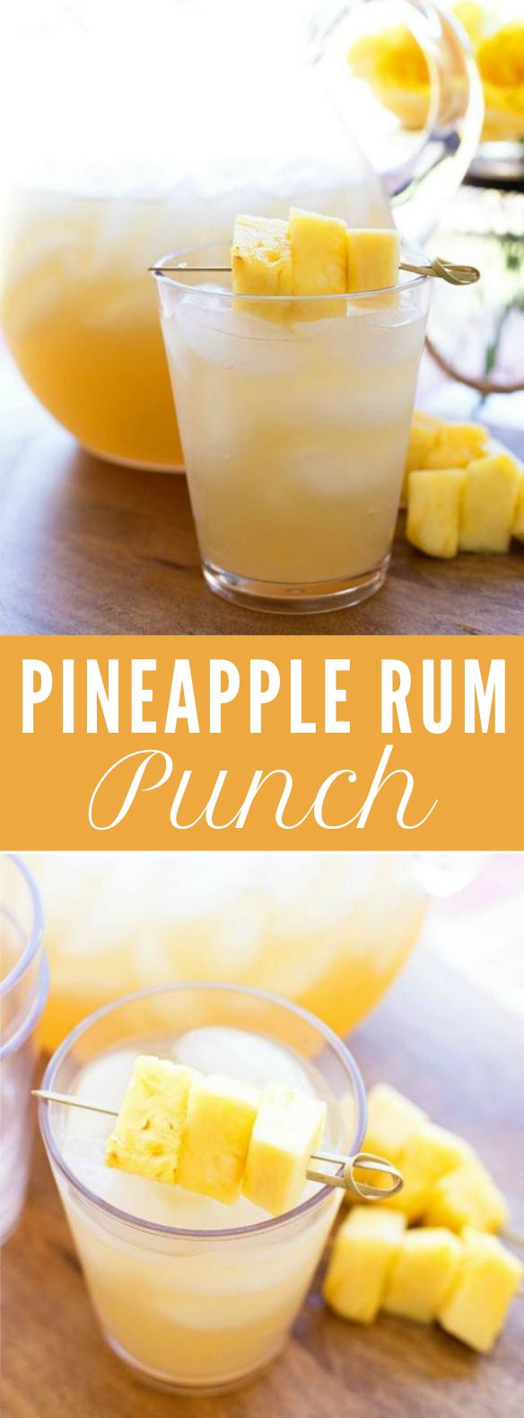 Pineapple Rum Punch #Pineapple #PartyDrink
