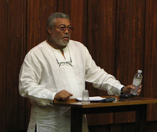 """Rawlings """"aggravated"""" by nonappearance of 'Voltarian' among new NDC officials."""