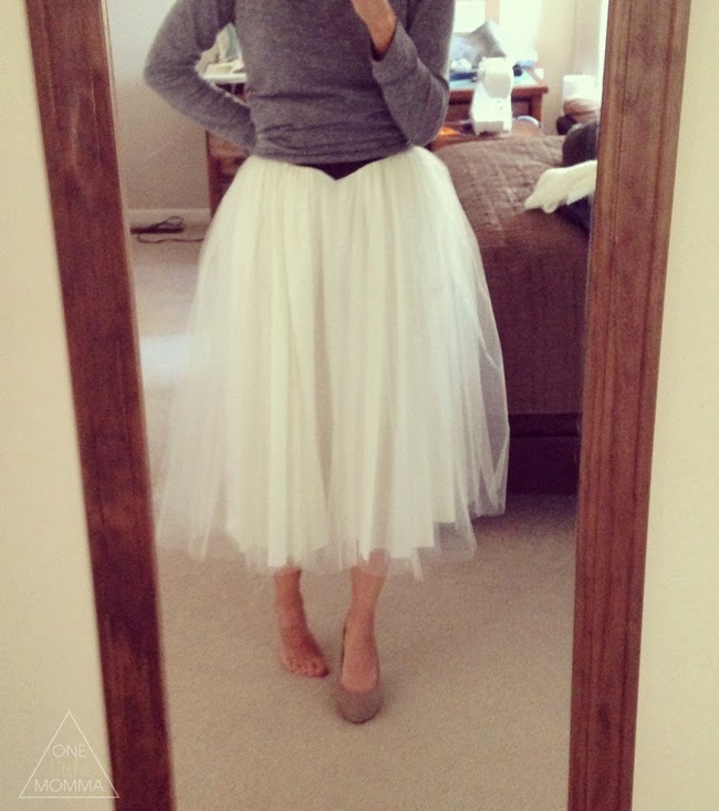 How to make your own tulle skirt out of a vintage formal dress- great refashion tutorial!
