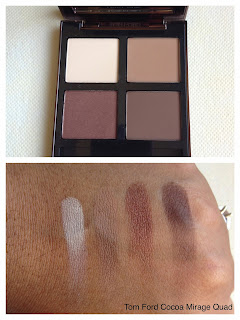 Tom Ford Cocoa Mirage Quad swatched on dark skin woc