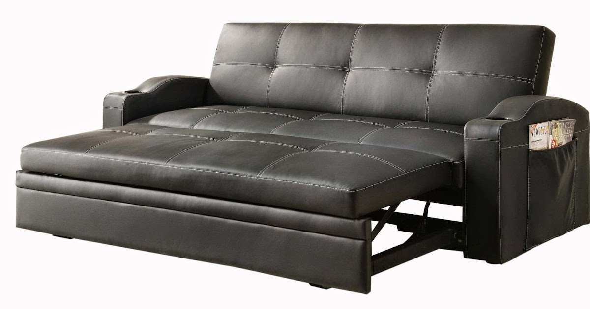 Futon Couch: Leather Futon Couch