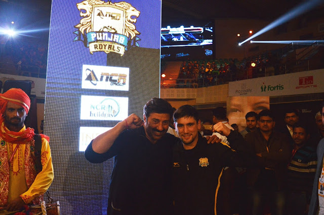 Bollywood Actor Sunny Deol supports Punjab Team @Pro-Wrestling League, New Delhi
