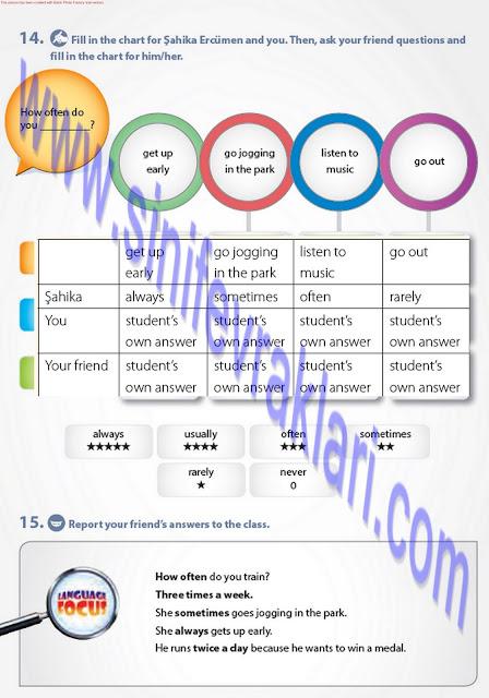 7. Sınıf Pantera Yayınları İngilizce Ders Kitabı Cevapları Sayfa 33