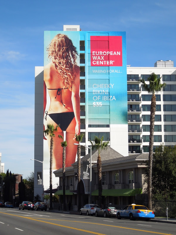 Cheeky European Wax Center bikini billboard