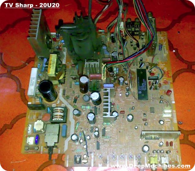 Gambar Tampak Atas Mesin TV Sharp Universe - Seri; 20U20