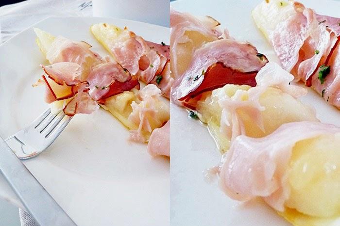 Melone mit Prosciutto aus dem Ofen
