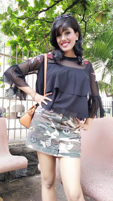 military green skirt