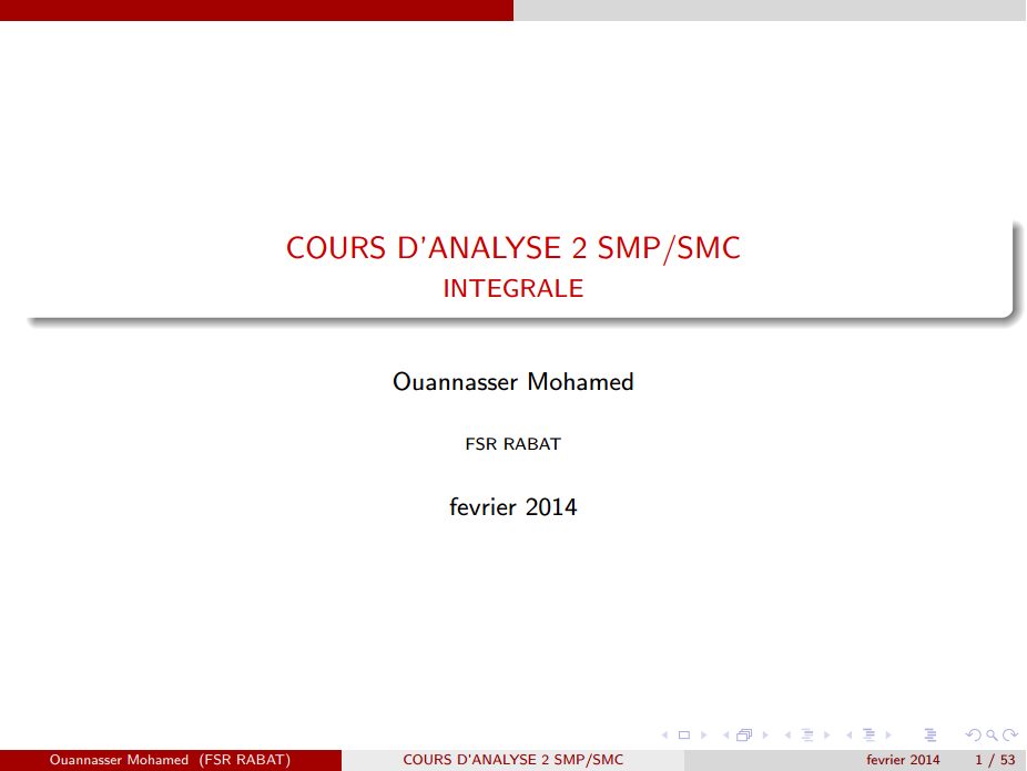 Cours Analyse 2