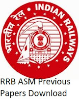RRB ASM Previous Question Papers PDF