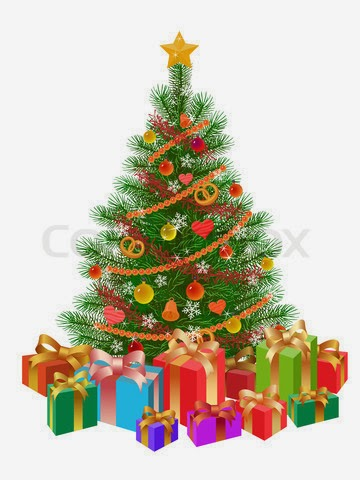 christmas tree with presents - photo #11