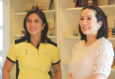 Leni Robredo and Kris Aquino