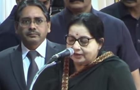 Jayalalitha takes oath as Tamilnadu CM | Full Video
