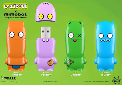 Uglydoll Mimobot USB Flashdrive by Mimoco - Wage, Babo, Ox & Ice-Bat