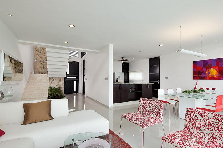 Casas en venta y departamentos casa muestra decorada for Casa minimalista fraccionamiento