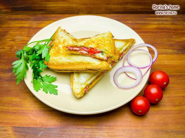 Бутерброд-пицца: рецепт в мультипекаре