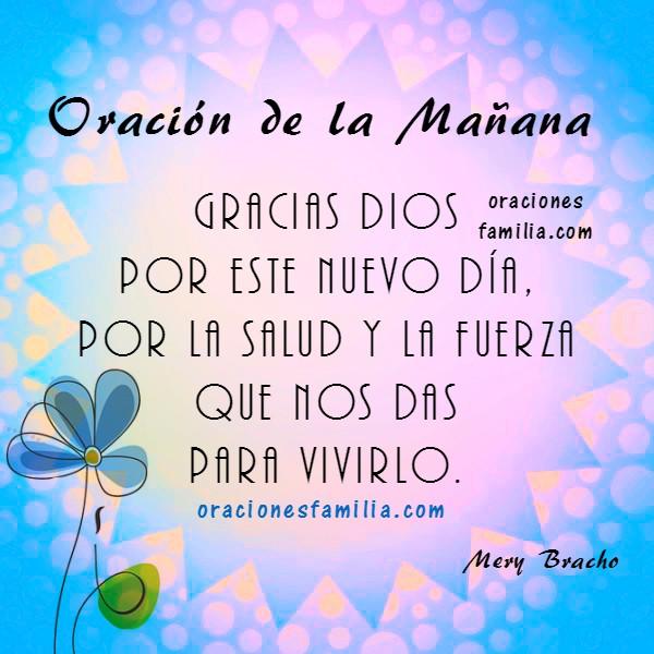 Frases con oraciones de la mañana, imágenes cristianas de oración y buenos días por Mery Bracho