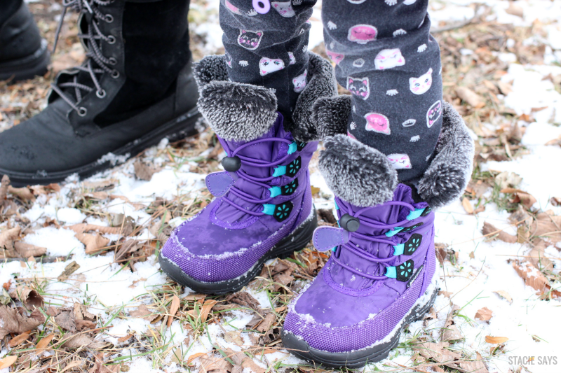 a purple pair of Kamik girls boots