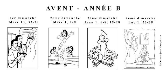 Les textes liturgiques de l'Avent, année B saint Marc