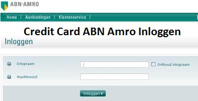 Credit Card ABN Amro Inloggen
