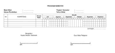 Administrasi Perangkat Pembelajaran Guru Format doc