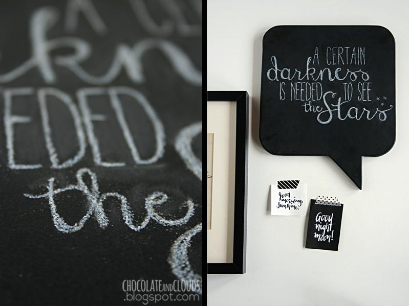 easy chalk board lettering diy