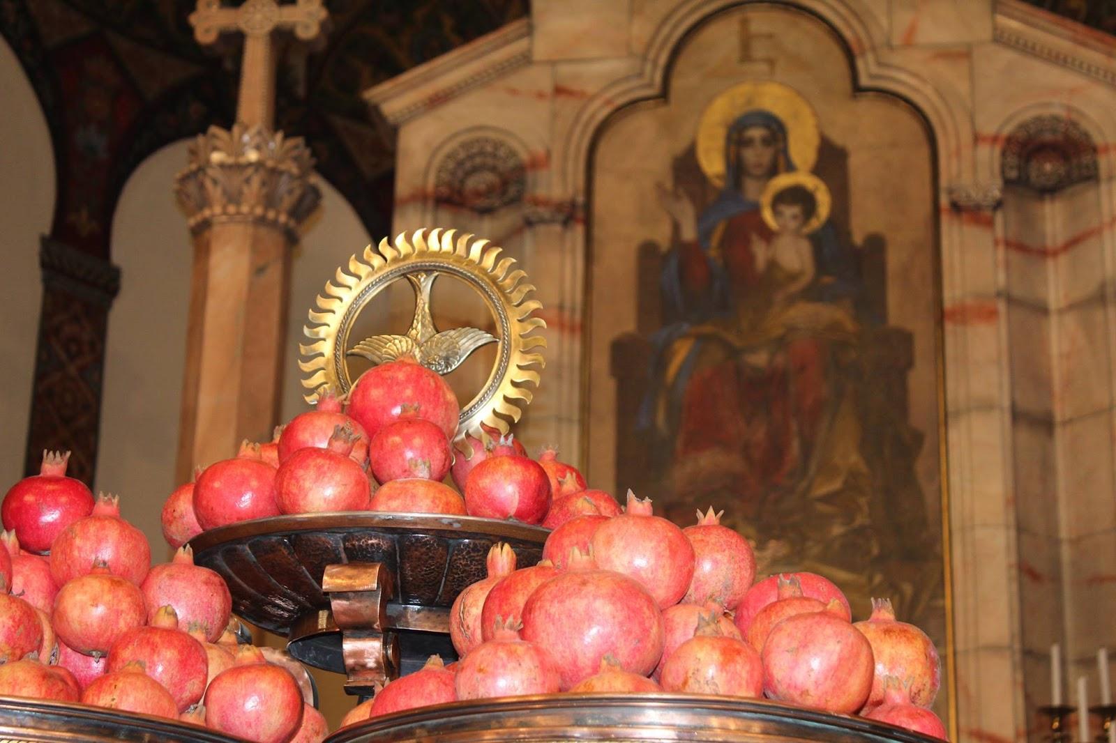 Byzantine Texas The Armenian New Years Blessing Of Pomegranates