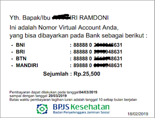 Nomor Virtual account