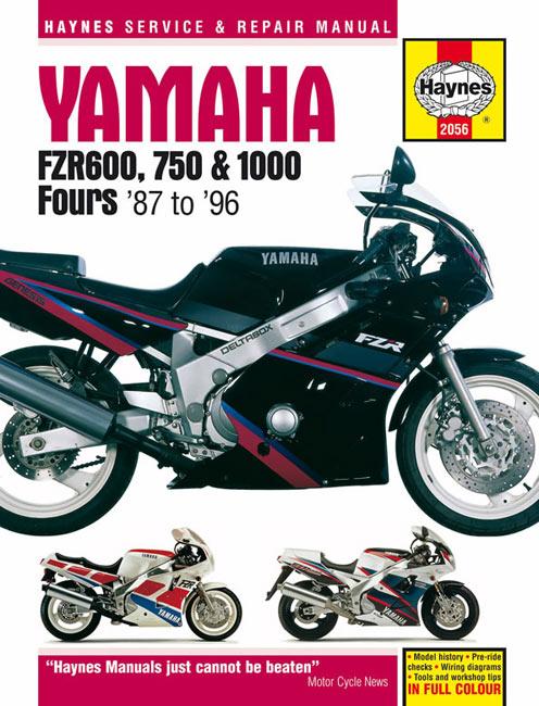 Yamaha FZR600, FZR750, FZR1000 Fours Repair & Service Manual 1987