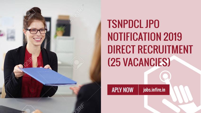 TSNPDCL JPO Notification 2019 (25 Vacancies) Apply Online