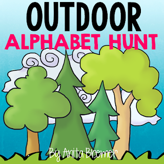 FREE Outdoor Alphabet Hunt- take learning outside!