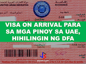 """The Philippines will submit a proposal to grant visa on arrival for Filipinos coming to the country at the ongoing bilateral talks with the UAE, with the hope that something can be finalized in time for President Duterte's scheduled visit in May this year.  According to lawyer Perfecto Yasay, Jr. who,  is in his capacity as acting Foreign Affairs secretary, in a recent trip to the UAE told in a meeting with the Filipino community that he will """"vigorously pursue"""" such a proposal. He is confident that the host government will give consideration where it's due.  Yasay also paid a courtesy call on H.H. Sheikh Mohammad bin Rashid al Maktoum, UAE Prime Minister and Vice President and Ruler of Dubai, who personally thanked him for the valuable contribution of the Filipino community to the growth and development of the UAE.   The contribution of the Filipino community in the development of the UAE was also praised by Sheikh Mohammad, and he wished that the relationship between the two countries would witness more development and progress in various areas.  """"We will vigorously be pursuing this type of proposal,"""" said Yasay in an audience of over 100 leaders and representatives of different Filipino organizations during the dialogue held in Abu Dhabi.   The 70-year-old diplomat said there could be a """"convergence"""" between the two countries regarding this.   """"What are the possible agreements for our OFWs? Rest assured, our host country is very cooperative (regarding) bilateral agreements that will strengthen our relationship and at the same time, also address the concerns of our OFWs,"""" Yasay added.    Ambassador Constancio R. Vingno, Jr. said the bilateral talks, which came as a result of a high-level meeting between Yasay and Sheikh Abdullah bin Zayed bin Sultan Al Nahyan, the UAE Minister of Foreign Affairs and International Cooperation, last October in New York, will push through even if Yasay is not the DFA Secretary anymore.Yasay met with the UAE official on the sidelines """