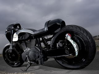 glory buell xb9 drag and cafe by hide motorcycle side left