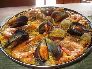 Receta de Paella de pescado y mariscos