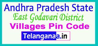 East Godavari District Pin Codes in Andhra Pradesh State